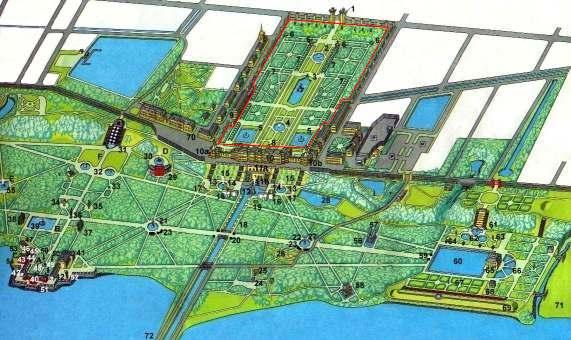 План Верхнего сада и Нижнего